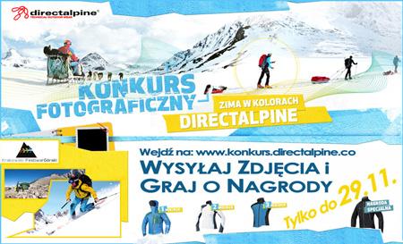"""Konkurs fotograficzny """"Zima w kolorach Directalpine"""" – rozstrzygnięcie na 10. KFG"""