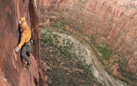 Jesse Huey na Sheer Lunacy, Toquerville Tower, Zion National Park, Utha (for. CHRIS BROWN)