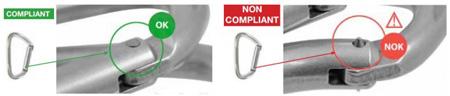 Porównanie właściwie i wadliwie uformowanego nitu