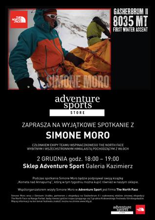 Simone Moro będzie promował książkę w krakowskim sklepie Adventure Sports