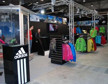 Targi Kielce Sport-Zima 2011, stoisko marki adidas (fot. 4outdoor.pl)