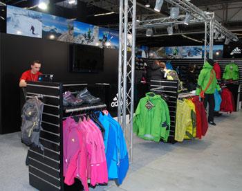 Outdoorowe stoisko adidasa na Targach Kielce Sport-Zima 2011 (fot. 4outdoor.pl)