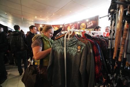 Kiermasz odzieży i sprzętu outdoorowego na 10. KFG – stoisko marki Buff (fot. Adam Kokot/KFG)