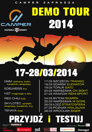 CAMPER zaprasza na Demo Tour 2014