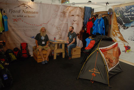 Stoisko marki Fjord Nansen i Olek Doba na targach OutDoor 2014 (fot. 4outdoor)