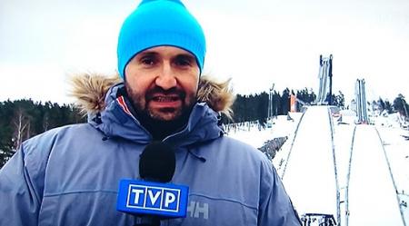 Helly Hansen ubiera dziennikarzy TVP w Falun
