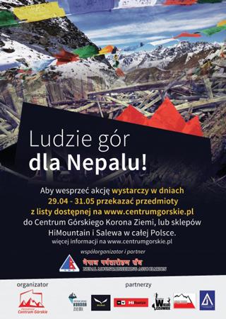 Ludzie Gór dla Nepalu – Akcja Centrum Górskiego Korona Ziemi