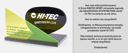 Martes Sport najlepszym dystrybutorem marki Hi-Tec na świecie