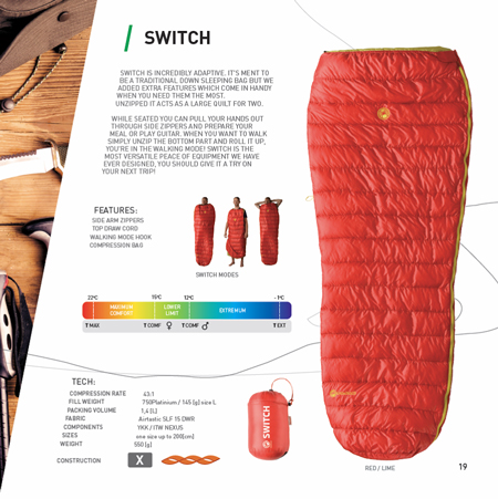 Pajak, śpiwór Switch