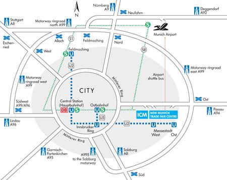 ISPO Munich, plan metra