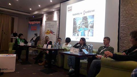 Dyskusja panelowa o kobietach w outdoorze (fot. ISPO)