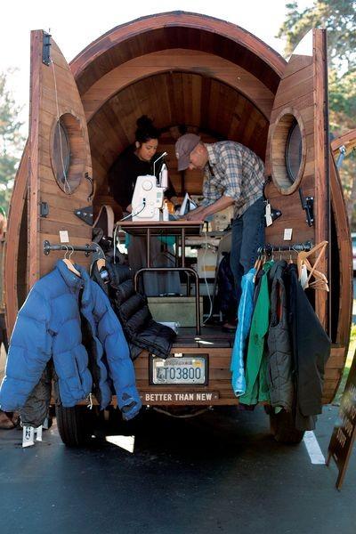 Bus na trasie The Worn Wear Mobile Tour (fot. Patagonia)