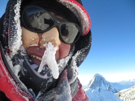 Wyprawa na Broad Peak: Adam Bielecki na szczycie (fot. Adam Bielecki)