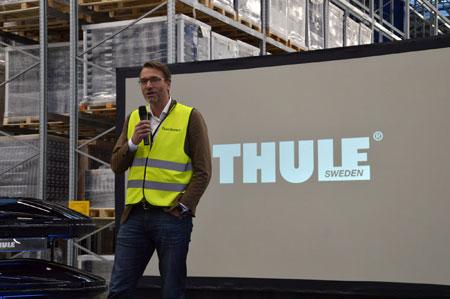 Magnus Welander, prezes Thule Group otwiera nowe Centrum Dystrybucyjne w Polsce (fot. Thule)