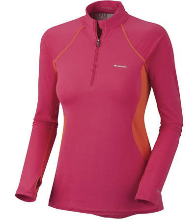 Test bielizny Women's Base Layer Midweight LS ½ Zip marki Columbia – idealna na zimowe dni