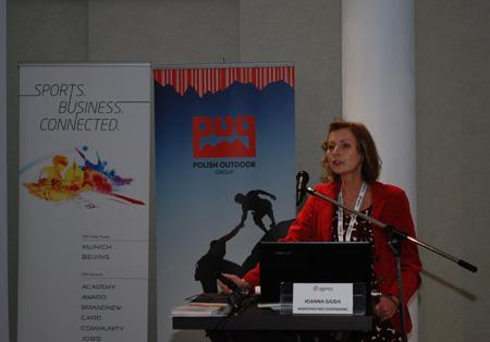 Prelekcja Joanny Gajdy z Ministerstwa Gospodarki na ISPO Academy 2013 (fot. 4outdoor)