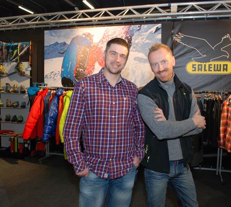 Jacek Grzędzielski i Grzegorz Hajny na targach Kielce Sport-Zima 2013 (fot. 4outdoor)