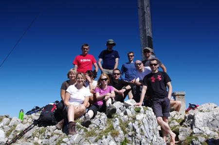 Friends of Fenix - cała ekipa na szczycie Benediktenwand (1801 m)