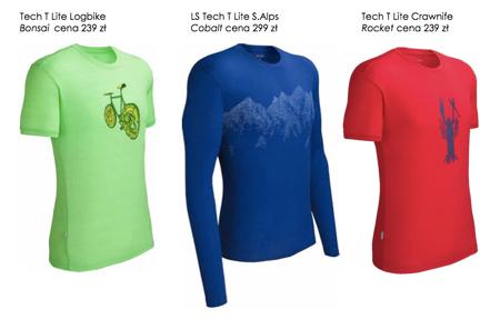 Icebreaker, męska kolekcja koszulek