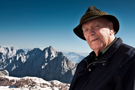 "Josef Wagner, senior partner w marce Hanwag, laureatem ""OutDoor Celebrity of the Year 2012"""