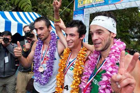 Kilian Jornet, Marco de Gasperi i Luis Alberto Hernando (fot. Salomon)