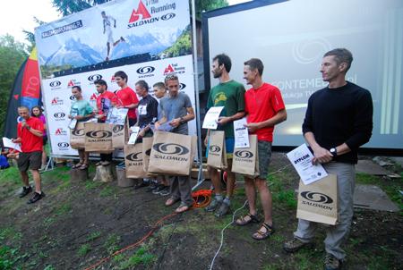 Maraton Gór Stołowych 2012 - dziesięciu najlepszych w klasyfikacji generalnej (fot. Monika Strojny)