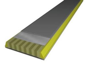 Rdzeń Sandwich Sidewall. Drewniany rdzeń z podwójną, titanalową powłoką; całość konstrukcji wzmocniona jest włóknem węglowym.