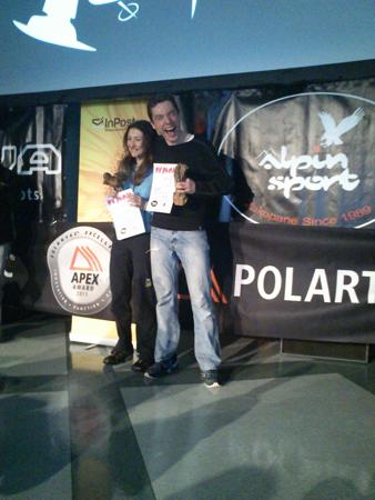 RMD Winter Run - Smak zwycięstwa: Anna Celińska i Kamil Jezierski (fot. Publink)