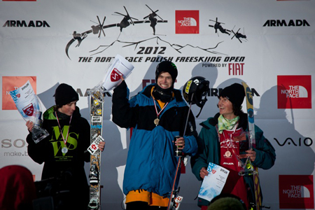 The North Face Polish Freeskiing Open 2012: zwycięzcy na podium (fot. Tomek Gola/fikcja.pl)