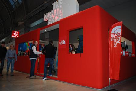 Targi Kielce Sport-Zima 2012, stoisko marki The North Face (fot. 4outdoor.pl)