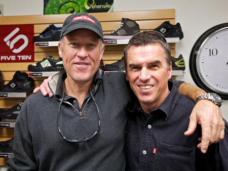 Charles Cole i Rolf Reinschmidt (fot. blog.adidas-group.com)