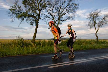 Krzysiek i Magda Dołęgowscy w trakcie uczestnictwa w rajdzie On-Sight Adventure Race (fot. Michał Unolt)