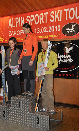 III Alpin Sport Ski Tour Race, podium seniorek