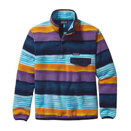 Bluza polarowa PATAGONIA M's Lighweight Synchilla® Snap-T® Fleece Pullover, kolor Painted Fitz Stripe