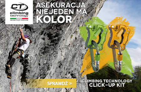 Asekuracja niejeden ma kolor – Click Up marki Climbing Technology