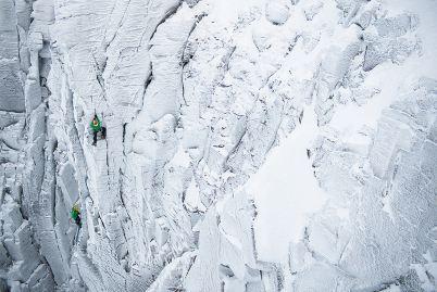 Charly Fritzer i Matthias Wurzer podczas wspinaczki w szkockim Highlands
