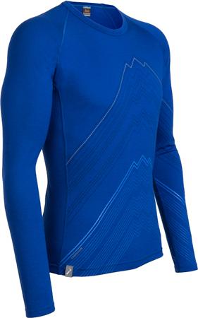 Icebreaker, koszulka z nadrukiem Oasis Crewe z linii Bodyfit