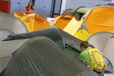 Miasteczko namiotowe na OutDoor Show 2010 (fot. Messe Friedrichshafen)