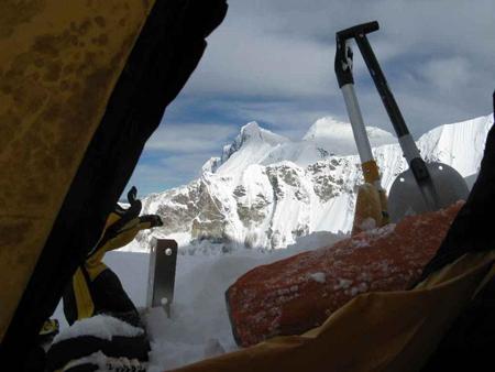 Widok z obozu C2 na Lhotse i Everest (fot. archiwum wyprawy)