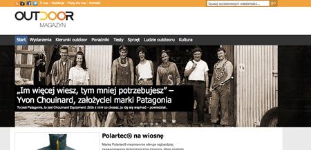 Outdoor Magazyn, screen
