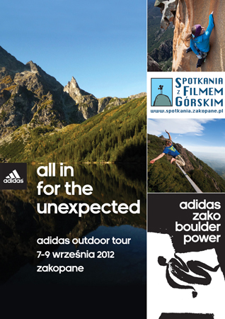 Międzynarodowe gwiazdy z teamu adidas outdoor na 8. Spotkaniach z Filmem Górskim