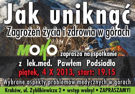 Spotkanie dotyczące medycyny górskiej w krakowskim sklepie Moko