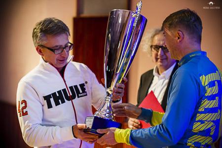 Wręczenie pucharu dla Thule na targach Bike-Expo 2013