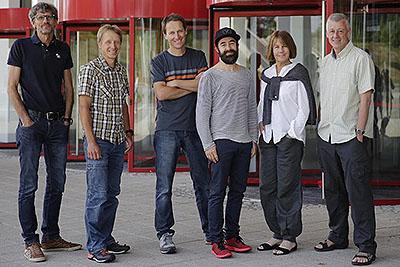 Ozłonków jury (od lewej): Christian Nothdurfter, manager zakupów w dziale wspinaczki i sportów zimowych Sportler AG, Włochy Boris Gnielka, szef działu testów i technologii magazynu Outdoor, Niemcy Jürg Buschor, redaktor naczelny ALL MOUNTAIN, Outdoor Gu