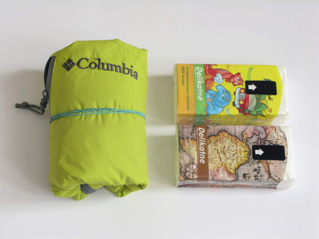 Columbia, kurtka Trail Fire Windbreaker Jacket po spakowaniu