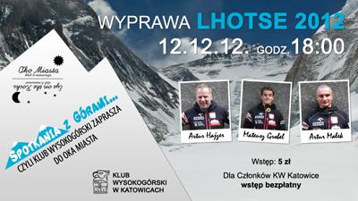 Prelekcja Lhotse 2012 – Klub Wysokogórski zaprasza do Oka Miasta
