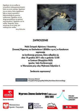 Rusza polska zimowa wyprawa – Gasherbrum I