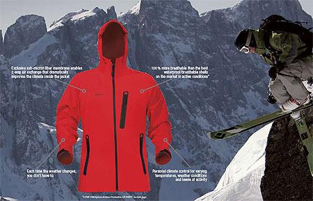 Polartec, NeoShell, przykładowa kurtka (fot. Polartec)