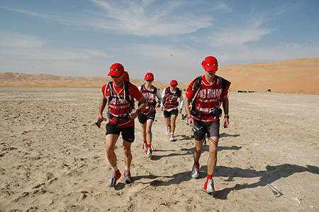 Abu Dhabi Adventure Challenge 2009, trekking