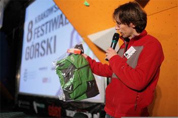Pytanie do publiczności w konkursie sponsorowanym przez firmę The North Face (fot. Adam Kokot/KFG)